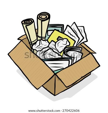 Pildiotsingu waste paper cartoon tulemus