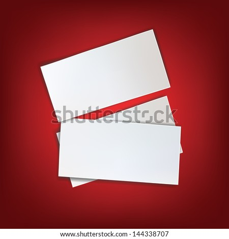 paper white blank red background  note piece page  message isolated empty write