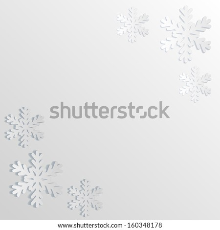 Paper white snow background