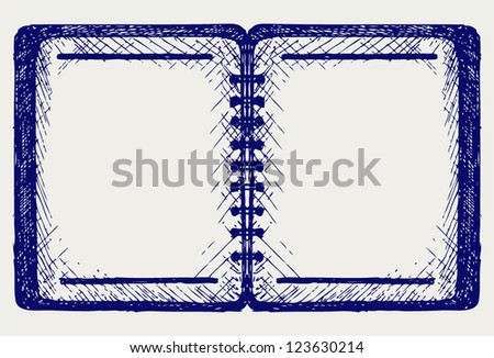 Paper with notebook. Doodle style - stock vector