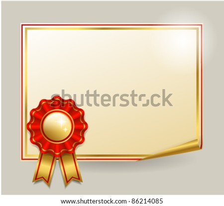 paper with red badge vector