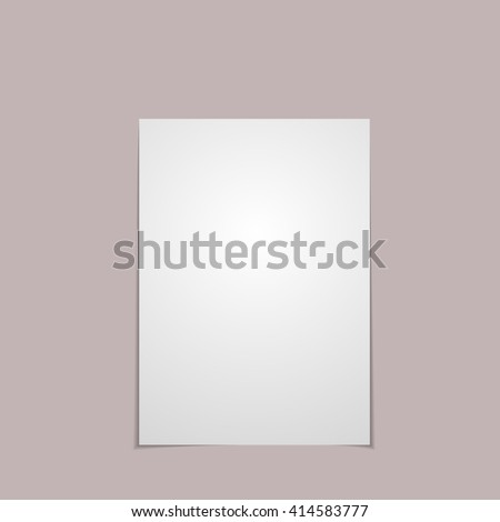 Paper with shadow, vector