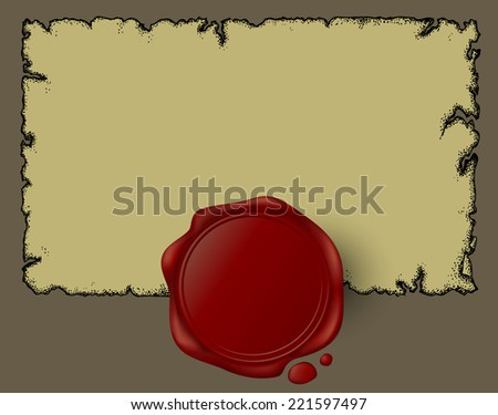 paper with wax seal