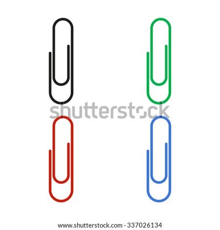 paperclip - color vector icon - stock vector