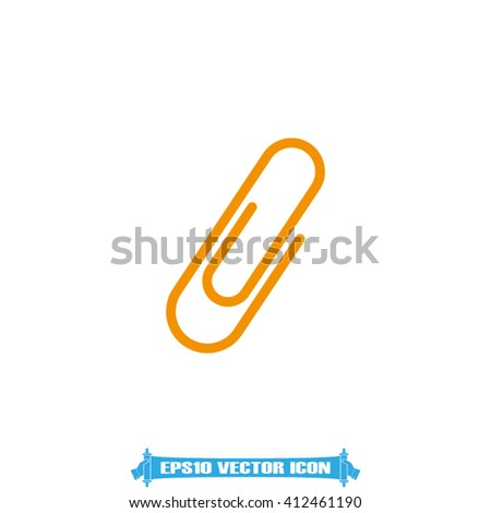 Paperclip Icon. Paperclip Icon Vector. Paperclip Icon EPS10. Paperclip Icon JPEG. Paperclip Icon Object.  Paperclip Icon Image. Paperclip Icon Graphic. Paperclip Icon Web - stock vector