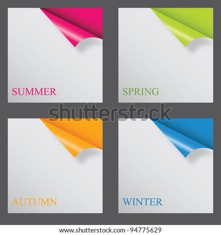 Papers with different corner and place for your text. vector illustration - stock vector