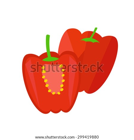 Paprika - stock vector