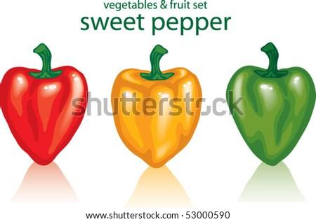 paprika - stock vector