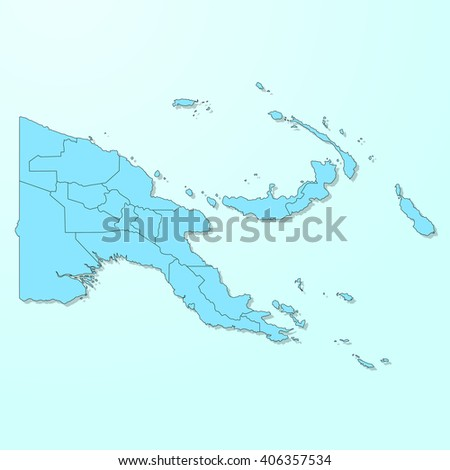 Papua New Guinea blue map on degraded background vector