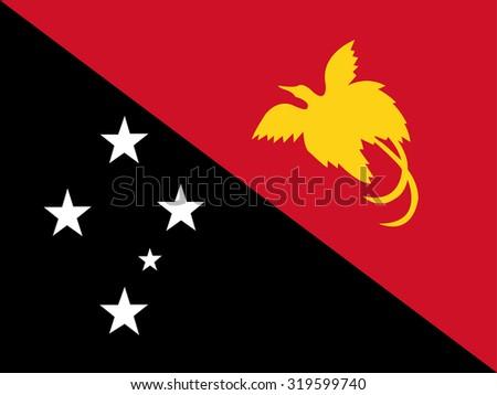 Papua New Guinea Flag - stock vector