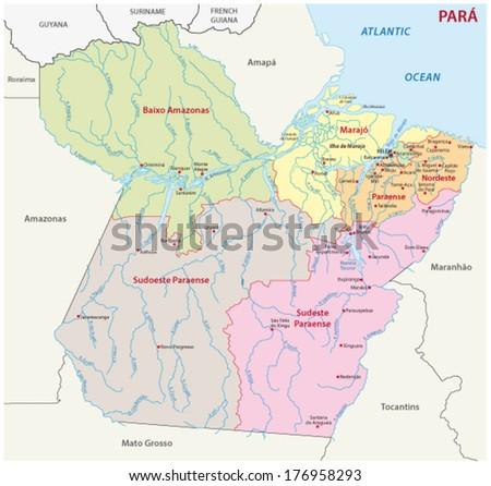 Para Administrative Map Brazil Stock Vector HD Royalty Free