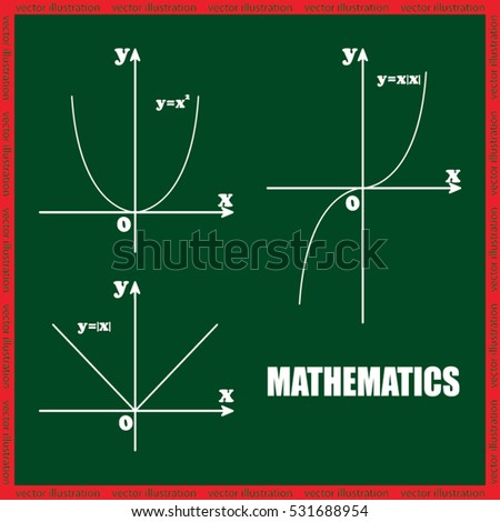 parabola mathematics vector illustration eps10. Isolated badge for website or app