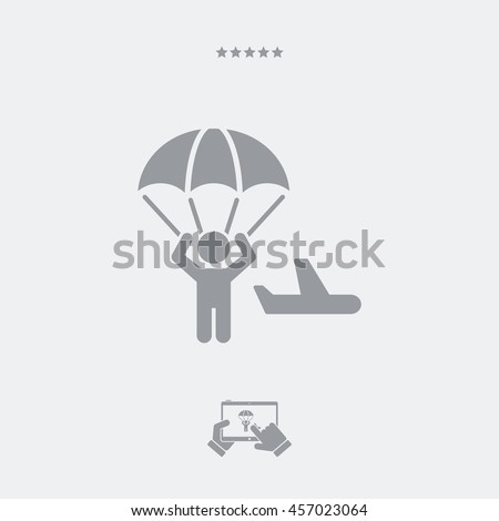 Parachuting concept - Minimal vector icon