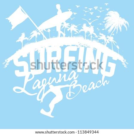 paradise beach - stock vector