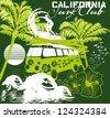 paradise palm beach vector art - stock vector