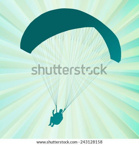 Paragliding active sport abstract background vector - stock vector