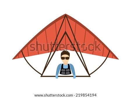 paragliding graphic design , vector illustration - stock vector