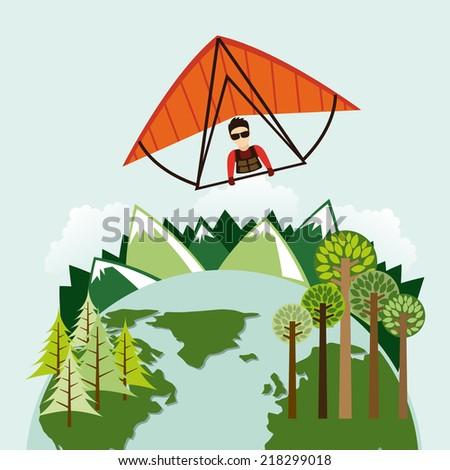paragliding sport design , vector illustration - stock vector