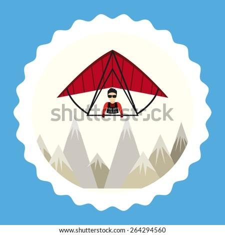 paragliding sport  design, vector illustration eps10 graphic  - stock vector