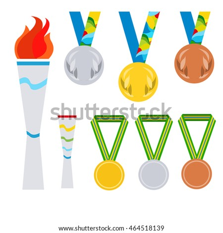 Paralympics Games Olimpic Fire Symbol Olympic Stock Vector Royalty