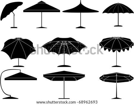 Parasol collection - stock vector