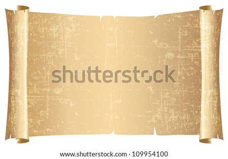 Parchment  scroll vector - stock vector