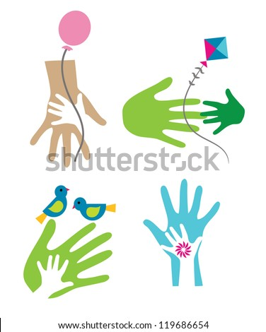 Parent-Child - stock vector