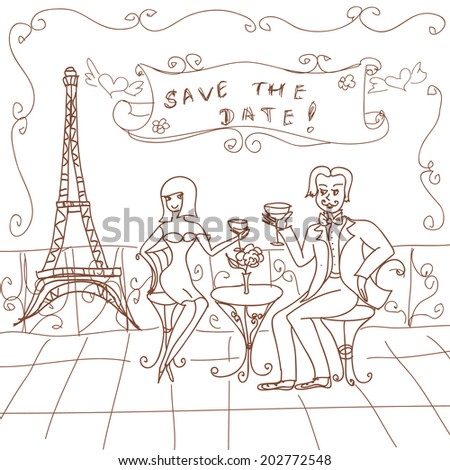 Paris Date Card