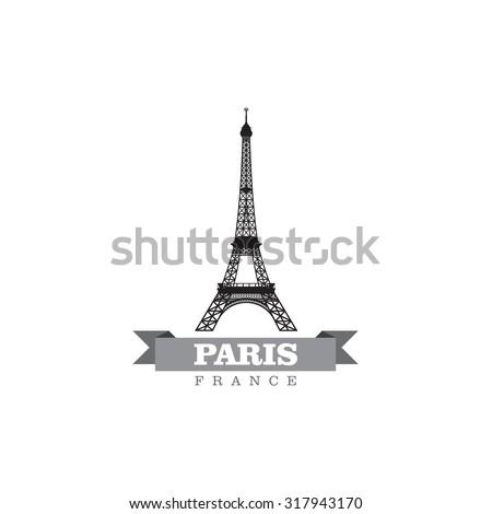 Paris France city symbol vector illustration - stock vector