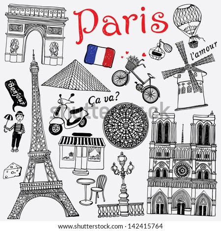 Paris illustration - stock vector