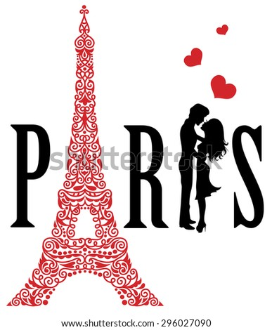 Paris is the city of love.  - stock vector