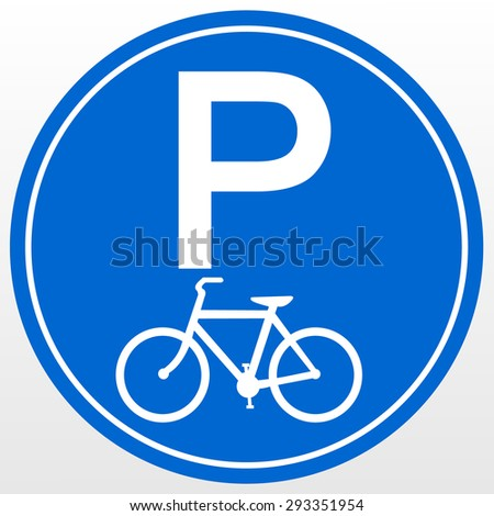 Park area sign for Bicycles - stock vector