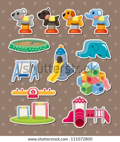 park stickers - stock vector