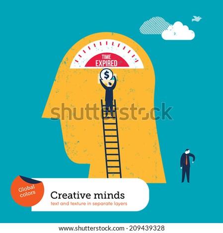 Parking Brain Meter - stock vector