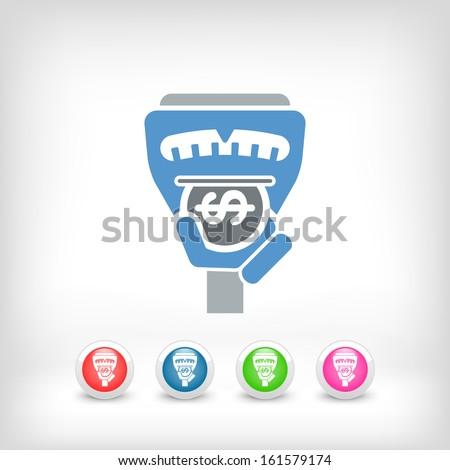 Parking meter - stock vector