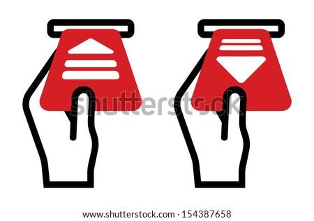 parking ticket sign - stock vector