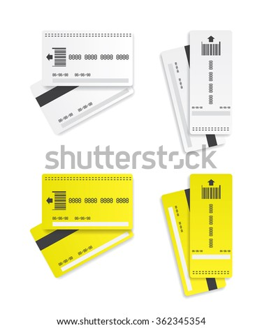 Parking tickets illustration - stock vector