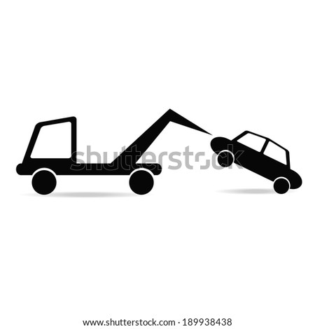 Parking towing  - stock vector