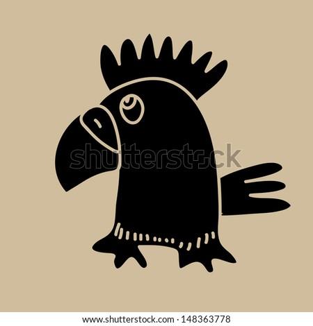 Parrot icon. Vector art - stock vector