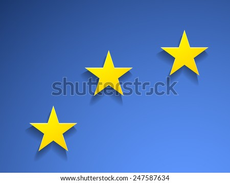 Part of Europe flag - stock vector