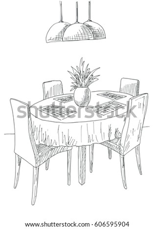 dining room sketch stock images, royalty-free images & vectors