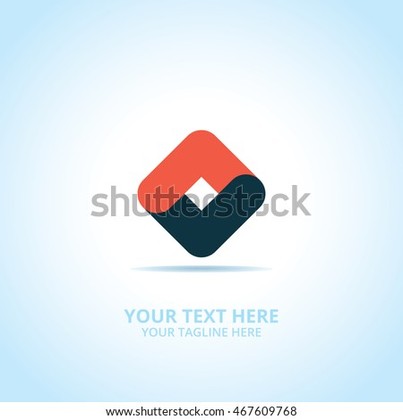 Partnership abstract emblem, design concept, logo, logotype element for template.