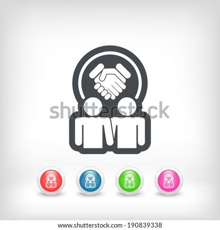 Partnership agreement icon - stock vector