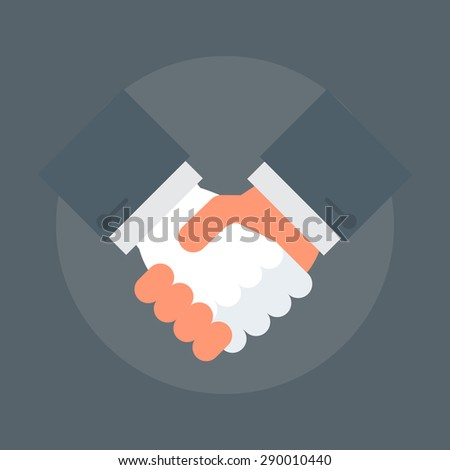 Partnership flat style, colorful, vector icon for info graphics, websites, mobile and print media.