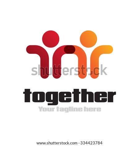 Partnership icon Vector Logo Template - stock vector