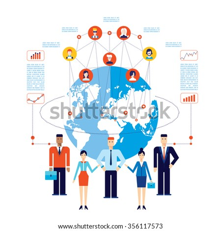 Partnership Teamwork Successful global business team Social network Communication concept