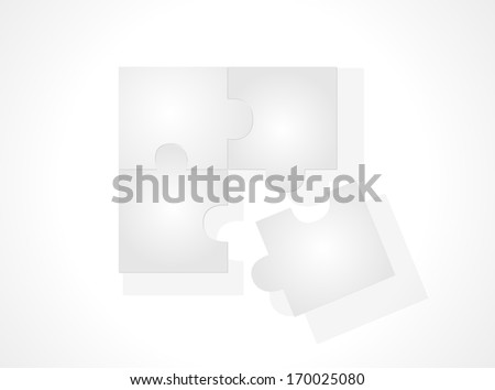 Parts of paper puzzles. Business concept Vector