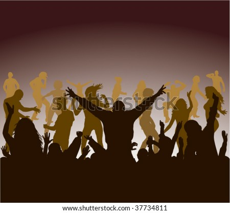 party and dance crowd illustration