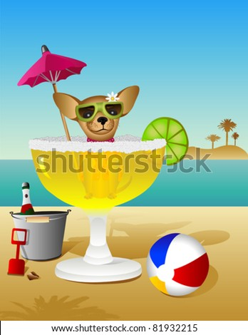 Party Animal Chihuahua - stock vector