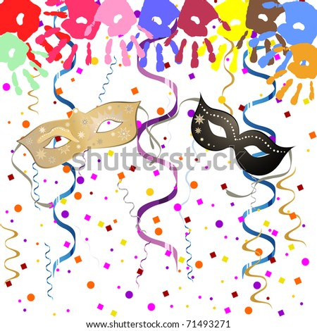party background - vector - stock vector